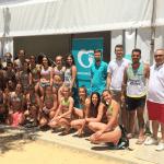 Clínica Moreau con el equipo femenino Maruja limón de balonmano Utrera